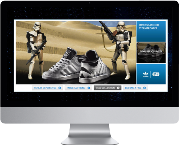 Vanity Tracy - adidas Death Star campagne