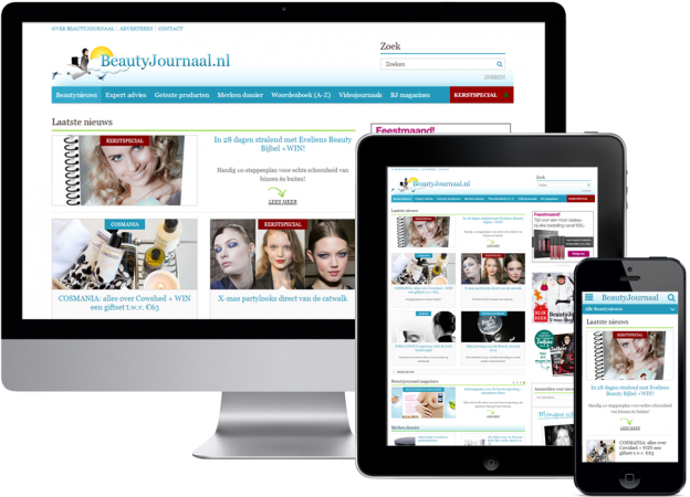Vanity Tracy - BeautyJournaal Redesign Responsive website