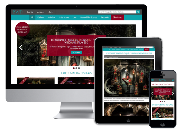 Vanity Tracy - Best Window Displays Responsive website